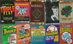 INCREDIBLE-Lot-of-100-Unopened-Old-Vintage-Baseball-Cards-in-Wax-Packs-amp-BONUS
