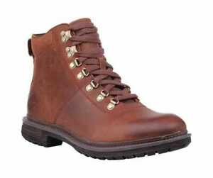 2d6588bd130 Details about Men's Timberland Logan Bay Alpine Hiking Boot Medium Brown  Full Grain Leather