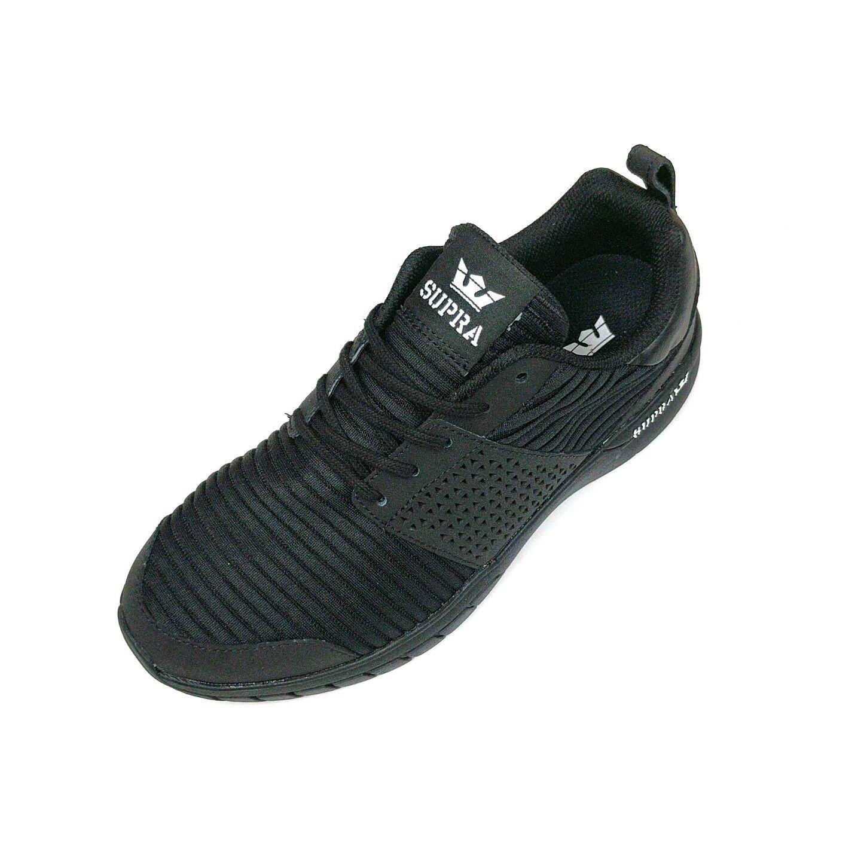 NEW MEN SUPRA SCISSOR negro blanco negro MESH zapatillas 08027-007
