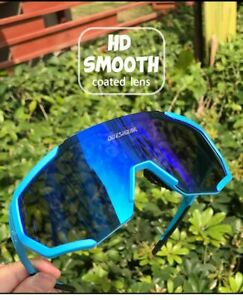 Photochromic Cycling Sunglasses 4 Lens Mirrored Goggles UV400 Men Women