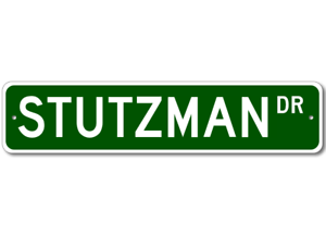 Personalized Last Name Sign STUTZMAN Street Sign