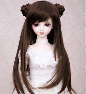 "New 1//3 Girl BJD SD DOC DOD LUT Doll Wig Long Dollfie 8-9/"" Bjd Doll Wig FA34"