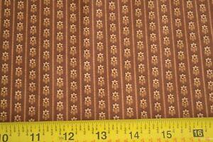 Dark Brown on Brown Quilting Cotton By 1//2 Yd N1157