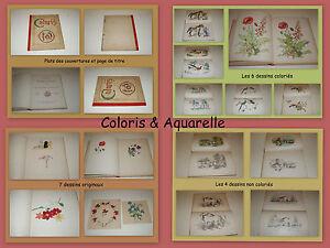 7 Dessins Originaux - ENFANTINA 19° SIÈCLE  Coloris & Aquarelle Nouveaux Modèles