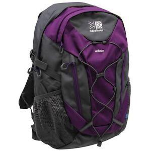 Karrimor-Urban-Sac-A-Dos-Ordinateur-Portable-Sac-de-sport-Petit-Sac-a-dos-violet-30-L-Gris-Nouveau