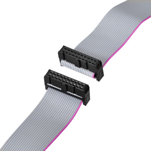 IDC Wire Flat Ribbon Cable FC//FC Connector A-type 20Pins 2.54mm Pitch 50cm Long