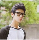 Handsome Vogue Mens Korean Black Wig Boys Short Hair Wigs Cosplay Anime Full Wig