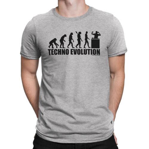 TECHNO EVOLUTION Mens T-Shirt Music Dance Cross Electronic Trance EDM Novelty