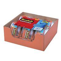 Scotch Heavy Duty Shipping Packaging Tape 6 Rolls W/ Dispenser Office Supplies