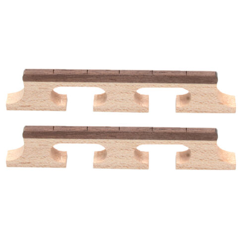 2 Stück 5-String-Banjo-Brücke aus Rosenholz Ersatz-Banjo-Palisander-Brücke