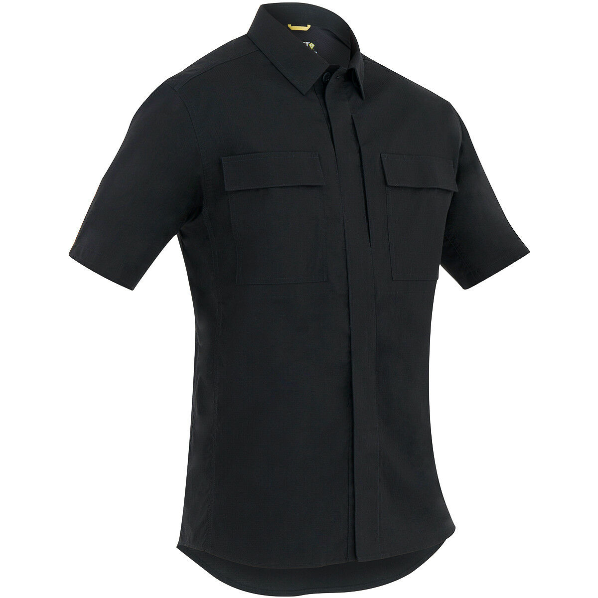 First Tactical Uomo Tactix Manica Corta Bdu Camicia Polizia Sicurezza Top Nero