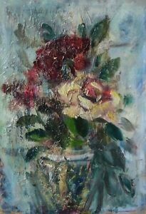 Oil-paint-painting-old-signed-loginoff-flower-bouquet-nature-morte