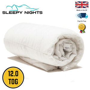 All Year Round All Seasons 12.0 Tog Duvet Quilt Single Double King Superking