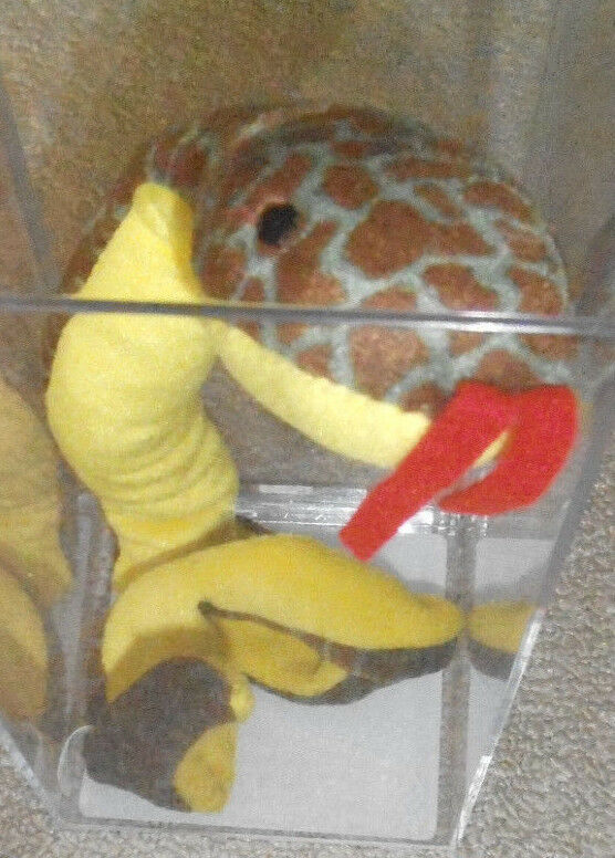 Hard to Find Authenticated Ty Slither Beanie Baby - 1st Tush