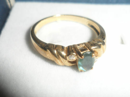 COLOUR CHANGE RARE 9K RUSSIAN ALEXANDRITE & DIAMOND gold RING CERTIFICATE AUTH
