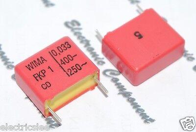 10pcs 0.033µF 0,033uF 33nF 400V 5/% pich:10mm Capacitor WIMA MKS4 0.033uF