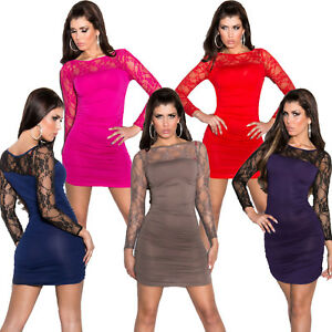 Partykleid Minikleid Mini Kleid Cocktailkleid Spitze sexy ...