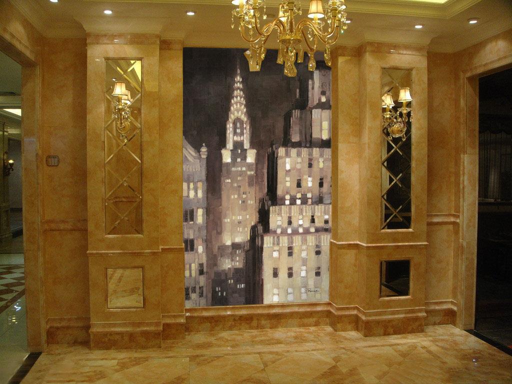 3D Night Light City 202 Wall Paper Wall Print Decal Wall AJ WALLPAPER CA
