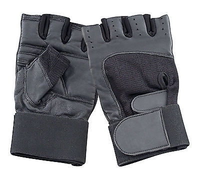 Radient Weight Lifting Leather Gym Gloves Bodybuilding Fitness Training Driving Biking