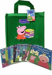 Peppa-Pig-Series-2-Collection-10-Books-Set-in-a-Gift-Bag-Children-Flat-Pictures