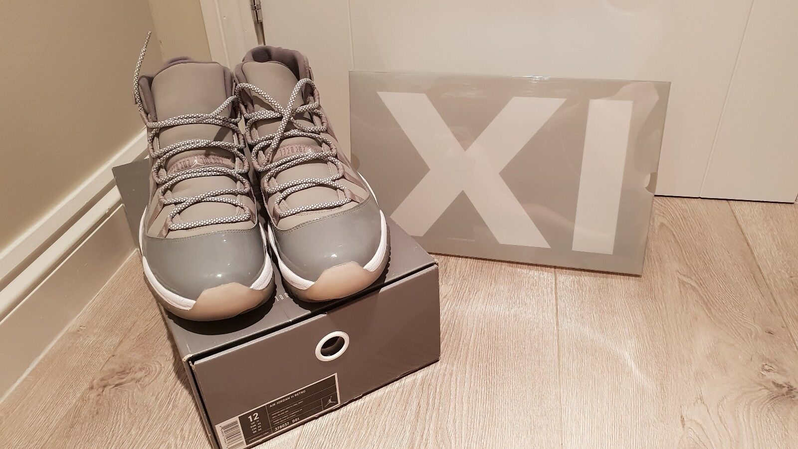 Nike Jordan XI Retro Air Alta Cool Air Retro Gris En Muy Buen Estado Rel UK11 (2010) 5c9df4