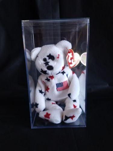 Ty Beanie Baby GLORY the Bear with Tag Errors RARE