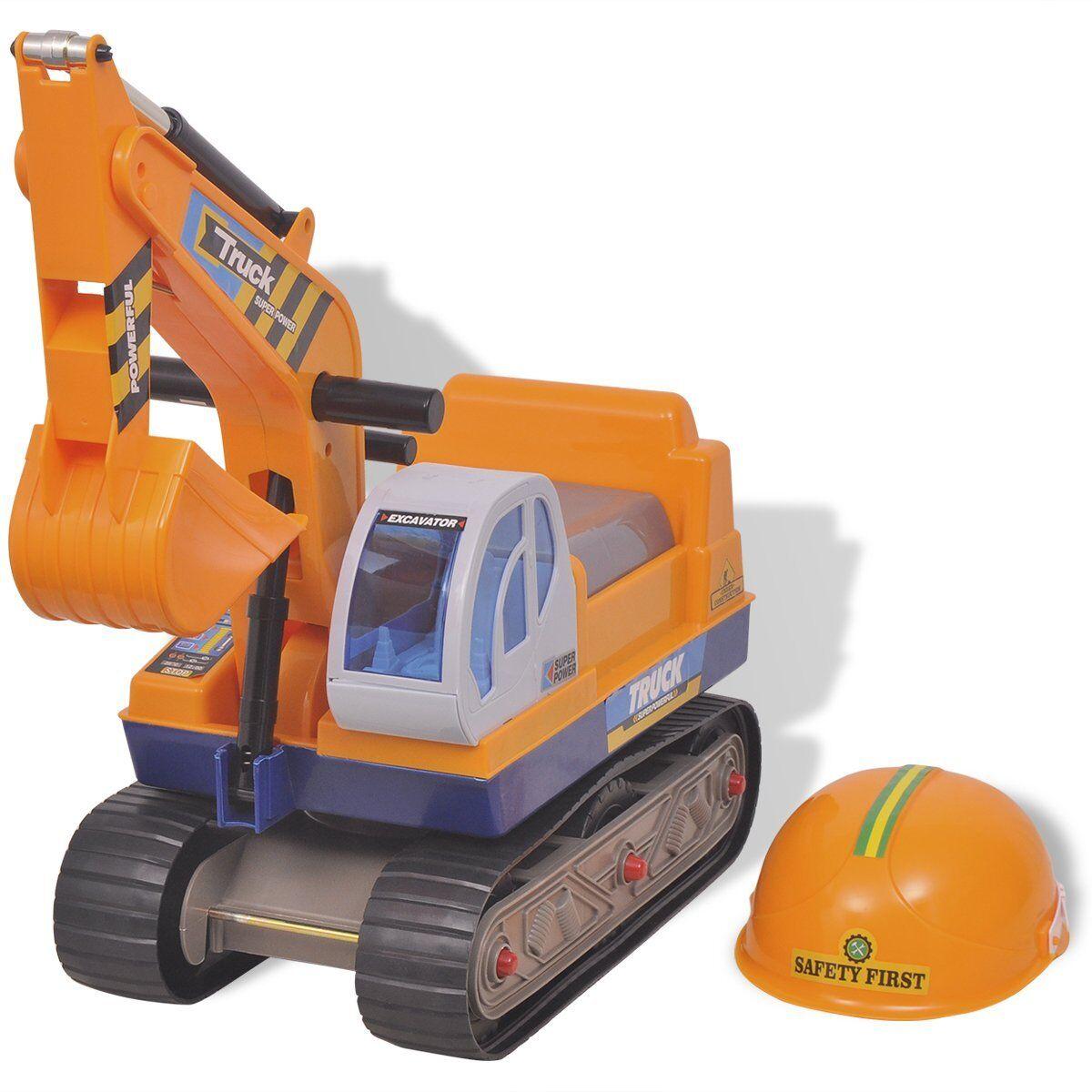 VidaXL Kinderbagger Bagger Sitzbagger Sandbagger Spielzeug Rutschauto Helm    Preiszugeständnisse