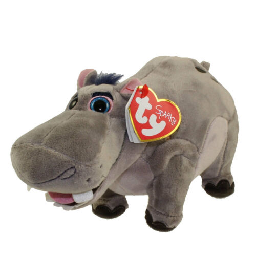 "Plush MWMT/'s Disney The Lion Guard Ty Beanie Baby Boo/'s 6/"" BESHTE Hippopotamus"