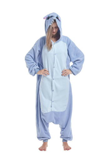 Christmas Adult Animal Cosplay Costumes Sleepwear Blue Stitch Kigurumi Pajamas