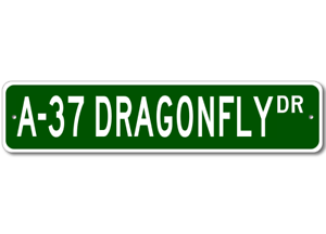 A-37-A37-Dragonfly-Airforce-Pilot-Metal-Wall-Decor-Street-Sign-Aluminum