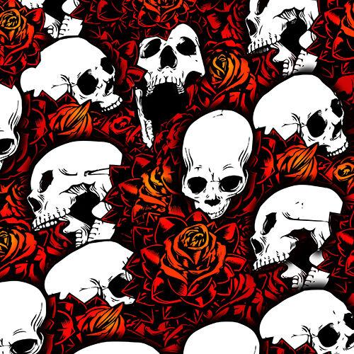 Set of 4 Red Skull Shock Covers Kawasaki Racing Brute Force 650 750 4x4 NEW
