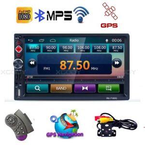 7-034-Doppel-2-Din-Autoradio-RDS-Bluetooth-GPS-Navi-Function-Mit-Rueckfahrkamera-K9B