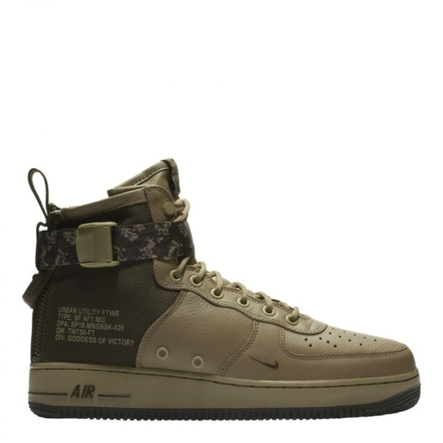 New Nike SF Af1 Air Force 1 Mid Mens 917753-201 Olive Cargo Khaki Shoes Camo