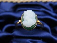 schöner alter Ring 750/-Gold ca. um 1910 Art Deko Paris Achat Gemme