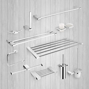 Image Is Loading Bathroom Accessories Modern Toilet Wall Mounted Shelves Rail