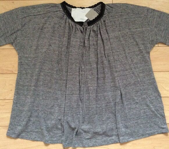 Undiscoverot Eye Nelo Peasant Top Blouse Größe Small grau NW ANTHROPOLOGIE Tag