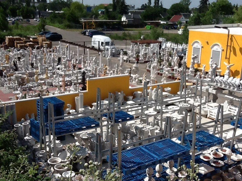 Säule Zaunpfeiler Pfeiler Sockel 2 2 2 teilig 100 cm Skulptur Steinguss Gartendeko dd3878