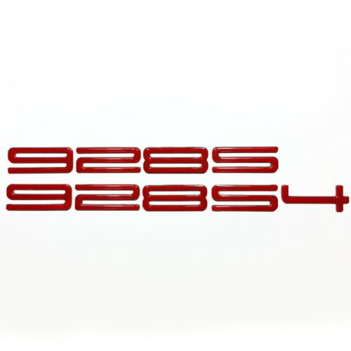 928S or 928S4 Bumper Lettering