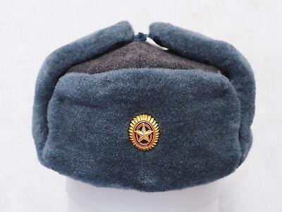 Original Russian Soviet USSR Red Army Ushanka winter hat cap cockade Red Star