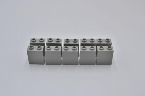 LEGO 10 x Paneele offen althell grau Light Gray Panel 1x2x2 Hollow Studs 4864b
