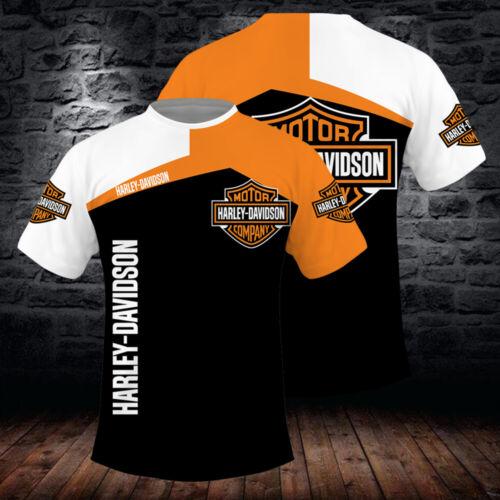 3D-Digitales Casual Mantel Hoodie Gradient Pullover Druck Harley-Davidson LOGO