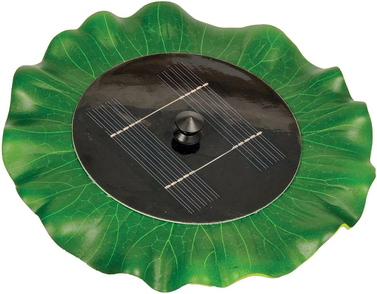 Hozelock Cyprio Solar Powered Floating Lily Fountain Water Feature Pond Pump