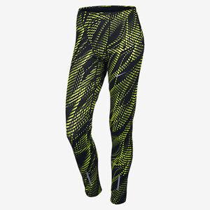 Nike Power Tech Men's Graphic Running Tights Black/Volt