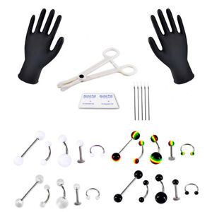Professional-Body-Piercing-Jewelry-Tool-Kit-Belly-Nose-Navel-Nipple-Needle-Ring