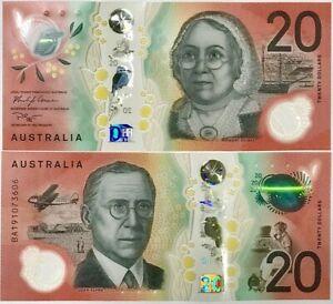 AUSTRALIA 20 DOLLARS 2019 P NEW DESIGN POLYMER UNC