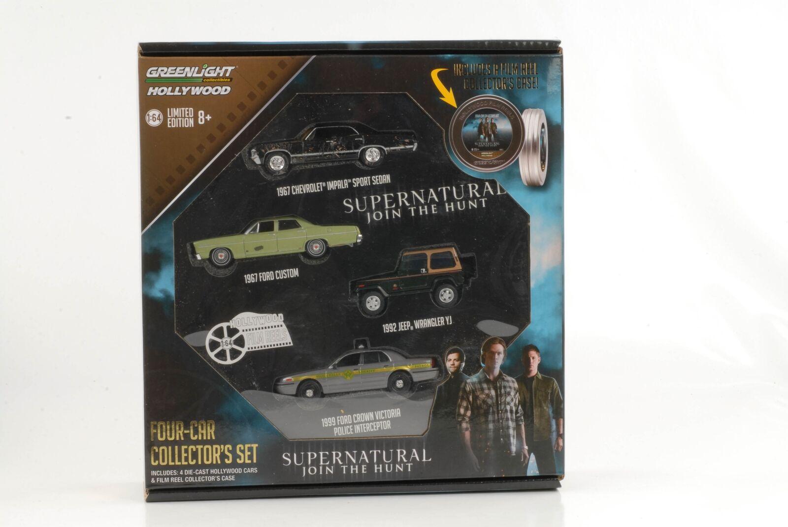 Movie Supernatural Join the hunt Gift Filmrolle Set Set Set 4 car 1 64 Greenlight 1ea8e6
