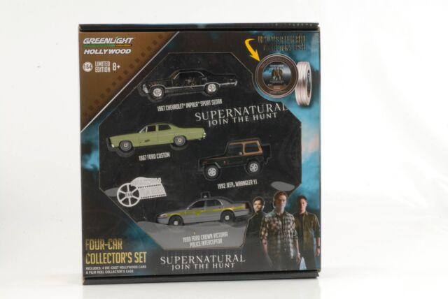 Movie Supernatural Join The Hunt Gift Film Roll Set 4 Car 1:64 Greenlight