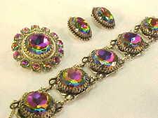 FABULOUS Vintage SCHIAPARELLI Watermelon Rhinestone Necklace Bracelet & Earrings