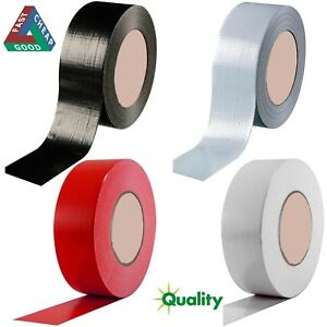 Duck-Duct-Gaffa-Gaffer-Waterproof-Cloth-Tape-Silver-RED-WHITE-Black-48mm-50m