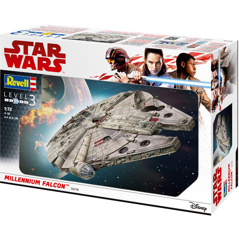 Revell Star Wars Millennium Falcon (Level 3) (Scale 1 72) 06718 Model Kit NEW
